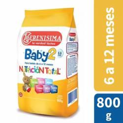 Leche Modificada en Polvo La Serenísima Baby 2 x 800 g.