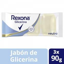 Jabón de Glicerina Rexona Neutro x 3 un. 90 g.