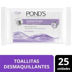 Toallitas Desmaquillantes Ponds Sensitive x 25 un.
