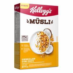Cereal Mixto Kelloggs Musli con coco Estuche x 270 g.