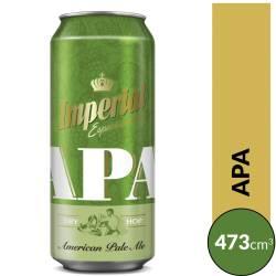 Cerveza Apa Imperial Lata x 473 cc.