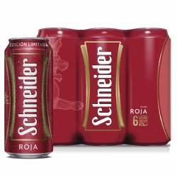 Cerveza Roja Schneider Pack x 6 Latas de 473 cc