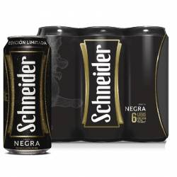 Cerveza Negra Schneider Pack x 6 Latas de 473 cc