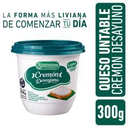 Queso Untable Light Cremón La Serenísima Desayuno x 300 cc.