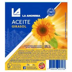 Aceite de Girasol La Anónima x 3 Lt.