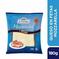 Queso Mozzarella en Fetas La Paulina x 180 g.