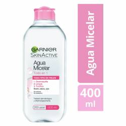 Agua Micelar Garnier Todo en 1 Skin Act. x 400 cc.