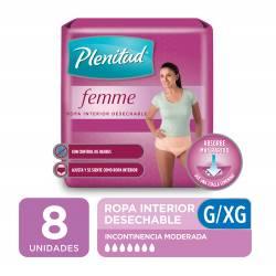 Ropa Interior Desechable Femme Plenitud G/XG x 8 un.