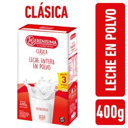 Leche en Polvo Entera La Serenísima Estuche x 400 g.