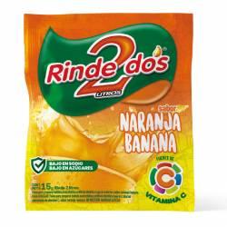 Polvo para Preparar Jugo Rinde2 Naranja-Banana x 18 g.