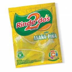 Polvo para Preparar Jugo Rinde2 Ananá x 18 g.