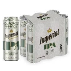 Cerveza Ipa Imperial Pack x 6 Latas de 473 cc.