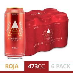 Cerveza Mendocina Roja Andes Origen Pack x 6 Latas de 473 cc