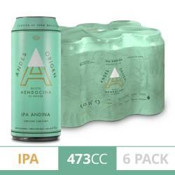 Cerveza Ipa Andina Andes Origen Pack x 6 Latas de 473 cc.