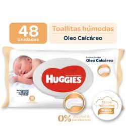 Toallitas Húmedas Protección Huggies Óleo Calcáreo x 48 un.