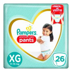 Pañal Pants Premium Care Pampers XG x 26 un.
