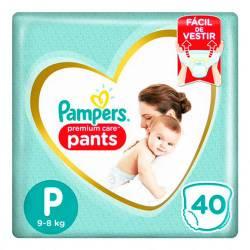 Pañal Pants Premium Care Pampers P x 40 un.
