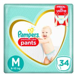 Pañal Pants Premium Care Pampers M x 34 un.