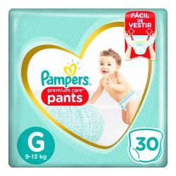 Pañal Pants Premium Care Pampers G x 30 un.
