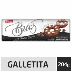 Galletitas Chocolate Glaseado Okebon con Chips de Chocolate x 204 g.