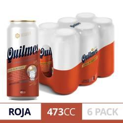 Cerveza Quilmes Red Lager Pack x 6 Latas de 473 cc.