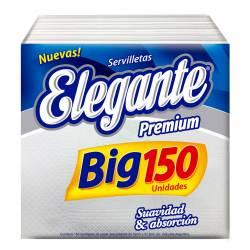 Servilletas Papel Premium Elegante 32cmx31.5cm x 150 un.