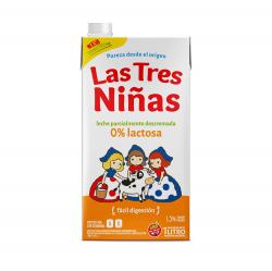 Leche Parcialmente Descremada Baja en Lactosa Las Tres Niñas x 1 Lt.