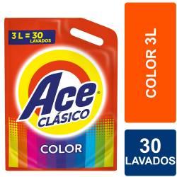 Líquido para Lavar Ropa Clásico Ace Color Doy Pack x 3 Lt.