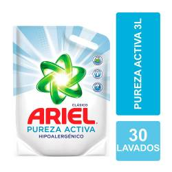 Líquido para Lavar Ropa Ariel Pureza Activa Doy Pack x 3 Lt.