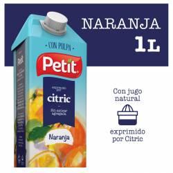 Jugo Naranja con Pulpa Petit Tetra Brik x 1 Lt.