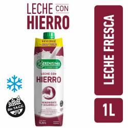 Leche Ultra Pasteurizada Parcialemente Descremada con Hierro 1% La Serenísima x 1 Lt.