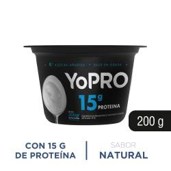 Yogur Batido Alto en Proteína Yopro x 200 g.