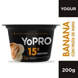 Yogur Batido Alto en Proteína Yopro Banana x 200 g.