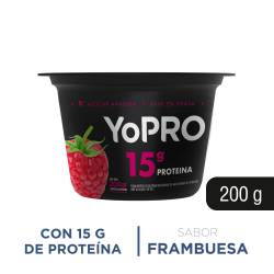 Yogur Batido Alto en Proteína Yopro Frambuesa x 200 g.