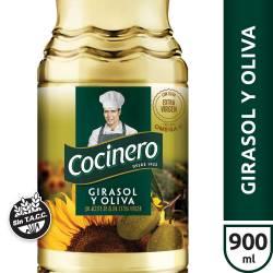Aceite Mezcla Girasol y Oliva Cocinero x 900 cc.