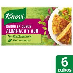 Saborizante en Cubos Knorr Albahaca y Ajo x 57 g.