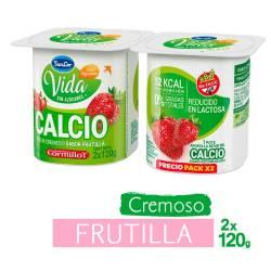 Yogur Descremado con Calcio Sancor Yogur Frutilla x 2 un. 240 g.