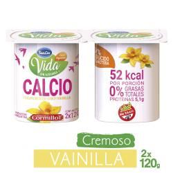 Yogur Descremado con Calcio Sancor Yogur Vainilla x 2 un. 240 g.