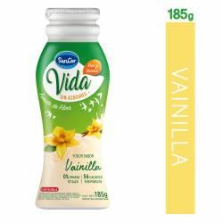 Yogur Descremado Bebible sin Azúcar Sancor Vida Vainilla Botella x 185 g.