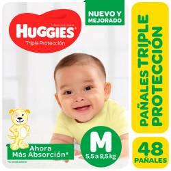 Pañal Triple Proteccion Hiper Huggies M x 48 un.