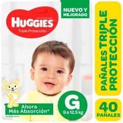 Pañal Triple Proteccion Hiper Huggies G x 40 un.