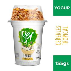 Yogur Descremado Crunch Ser Tropical x 155 g.