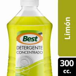 Detergente Líquido Concentrado Best Limón x 300 cc.