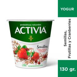 Yogur Probióticos Naturales Activia Semillas x 130 g.