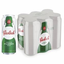 Cerveza Grolsch Pack x 6 Latas de 473 cc.