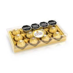 Bombones de Chocolate Finos Ferrero Rocher x 12 un. 150 g.