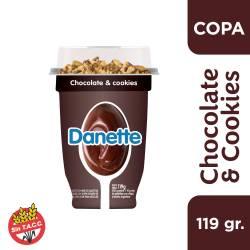 Postre Danette Chocolate & Cookies x 116 g.