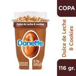 Postre Danette Dulce de Leche & Cookies x 116 g.