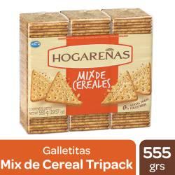 Galletas Mix de Cereales Hogareñas x 3 un. 555 g.