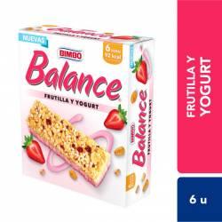 Barra de Cereal Balance Frutilla y Yogurt x 6 un. 138 g.